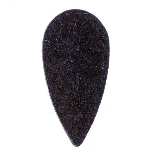 Felt Tones Teardrop Black Wool Felt 1 Pick